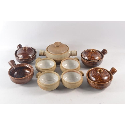 28 - Selection of Stoneware to include 4 crail pottery soupbowls and 4 other studio pottery bowels etc...