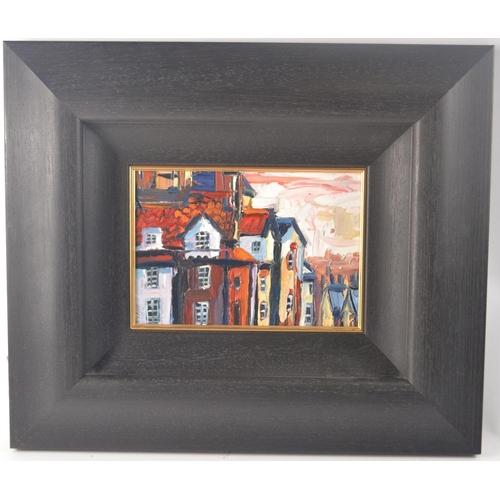 39 - LYN RODGIE ORIGINAL oil on board 'John Knox House Edinburgh, size 49cm x 49cm artist signed bottom l...