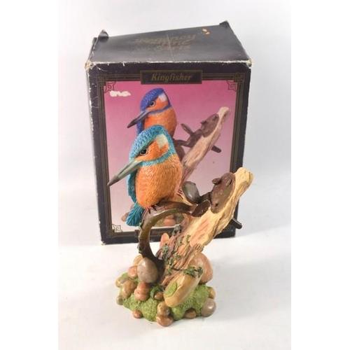 43 - Regena Fine Arts King fisher ceramic bird in its original box...