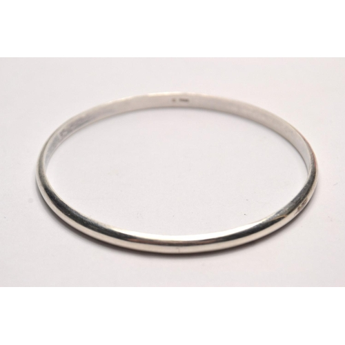 20 - Silver hallmarked plain design bracelet...