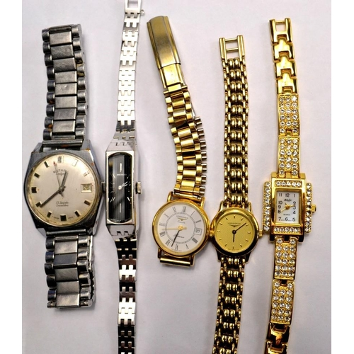 36A - 4 ladies dress wrist watches to include LONGINESS x2, SEIKO and BILYFER and one gents 1967 ROTARY wi...