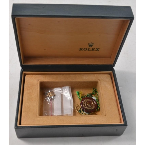 7E - ROLEX OYSTER PERPETUAL 'Date Just' wrist watch No 455 stamped at the lug,  boxed No 16013 'Attestati...