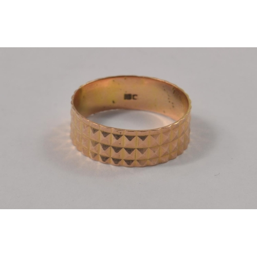3K - Two solid form Stamped yellow gold bracelets, one stamped in Arabic 12, tested as 12 carat weight 4....