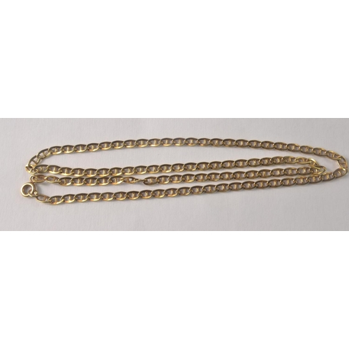 4H - A Nice 750 stamped yellow gold necklace 4.85g gross ( clasp is yellow metal) approx<br>#36...