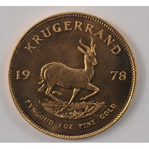 5A - LIFETIME INVESTMENT! Krugerrand 1oz 1978 22ct yellow gold (only 10% incl VAT buyers commission on th...