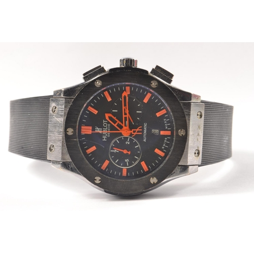 7A - A HUBLOT 'style' gents wrist watch#43
