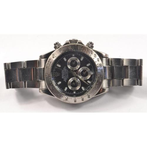 7D - ROLEX 'style' DAYTONA gents wrist watch<br>#46...