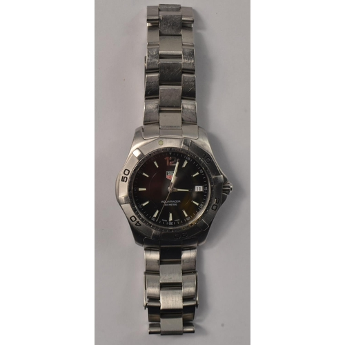 7F - TAG HEUER AQUARACER gents wristwatch, with original box, original instructions and guarantee card & ...