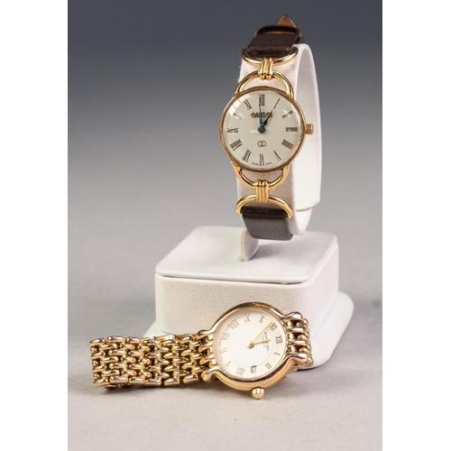 22 - LADY'S RAYMOND WEIL, GENEVE, SWISS QUARTZ WRISTWATCH with circular Roman dial, integral rolled gold ...