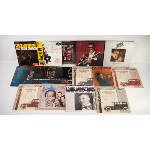 8 - JAZZ, VINYL RECORDS- A IS FOR LOUIS ARMSTRONG (Satchmo) and Eddie Condon-LIVE AT NEWPORT, Philips (B...