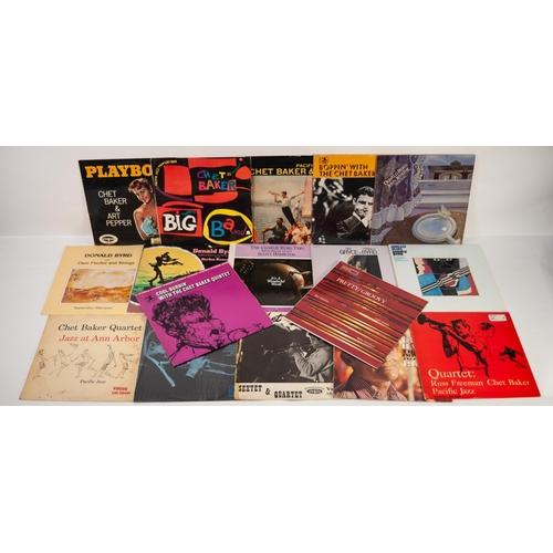 30 - JAZZ, VINYL RECORDS- B IS FOR DONALD BYRD-TAKING CARE OF BUSINESS, TCB (1002). CHET BAKER QUARTET-JA...