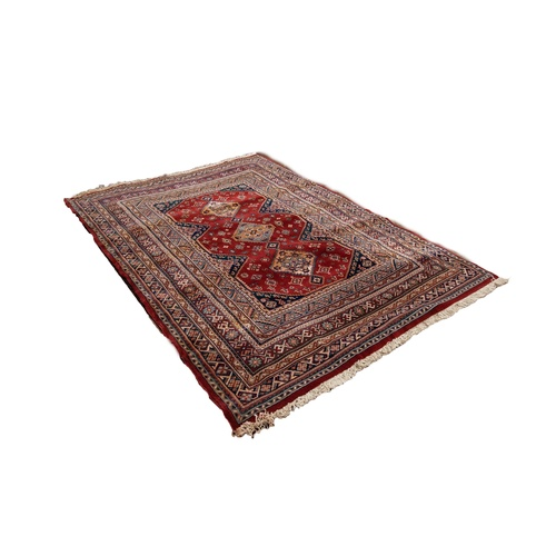 14 - BELGIUM PURE NEW WOOL PILE LARGE RUG, of 'Abbas Royal' Persian Shiraz design, with triple pole medal...