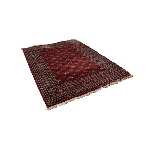 15 - BELGIUM PURE NEW WOOL PILE LARGE RUG of 'Abbas Royal' Turkoman Bokhara design with an all-over  desi...