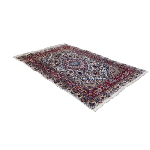 31 - BOLD, MULTI-COLOURED GOREVAN, PERSIAN, CARPET, witht concentric lozenge shaped centre medallions, on...