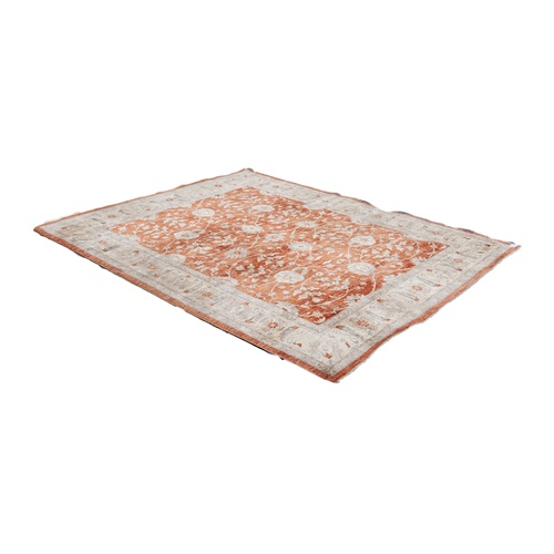 37 - HERAT PERSIAN CARPET with all-over Herati design of formal large flowers and delicate floral and fol...
