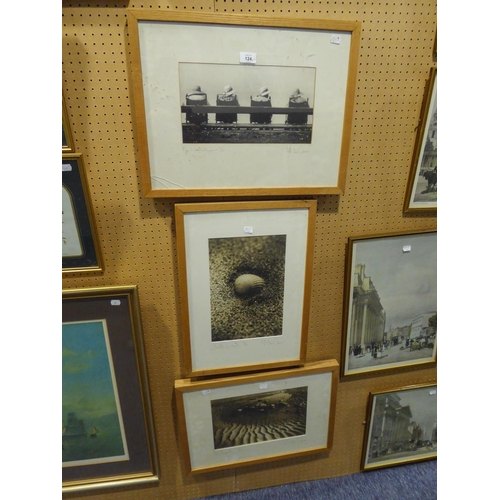 142 - MIKE OWEN <br />THREE ARTIST SIGNED LIMITED EDITION BLACK AND WHITE PHOTOGRAPHIC PRINTS <br />'Rockp...