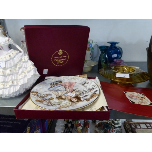15 - ROYAL WORCESTER 'CHRISTMAS WISH' COLLECTORS PLATE, BOXED WITH CERTIFICATE...