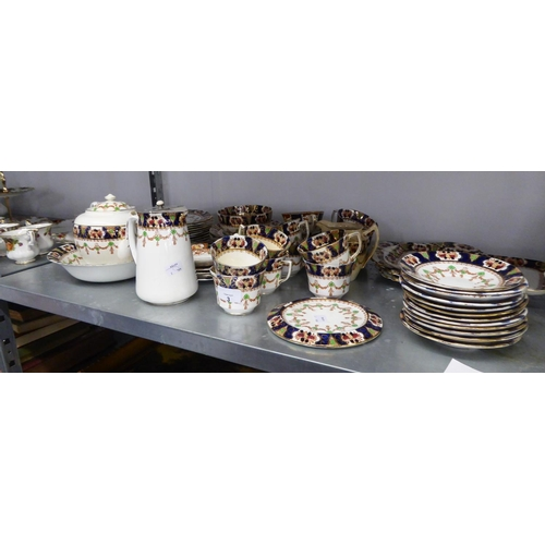 3 - EARLY 20th CENTURY STAFFORDSHIRE PORCELAIN 57 PIECE TEA SERVICE...