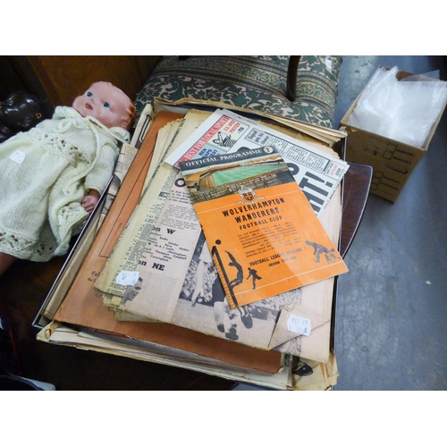 123E - WOLVERHAMPTON WANDERERS v BOLTON WANDERERS FOOTBALL PROGRAMME, F.A. CUP FOURTH ROUND, 1858-9, and A ...