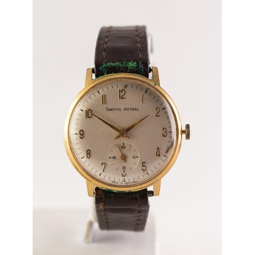 5 - SMITHS ASTRAL (made in England), VINTAGE WRISTWATCH with mechanical movement, circular silvered Arab...