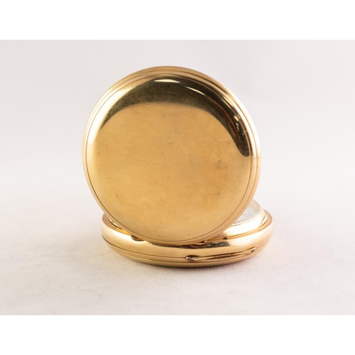 36 - THOMAS RUSSELL & SON, LIVERPOOL (makers to Queen Victoria), 18ct GOLD CASED FULL HUNTER POCKET W...