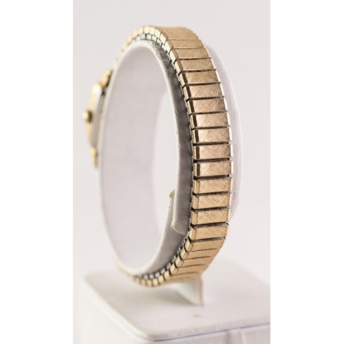 14 - LADY'S AVIA, SWISS, GOLD PLATED BRACELET WATCH with 17 jewels incabloc movement, small square silver...