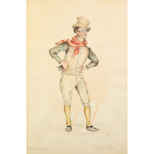 250 - JACK BARNETT (TWENTIETH CENTURY) SET OF FOUR WATERCOLOUR DRAWINGSFIGURE STUDIES FROM CHARLES DICKENS...