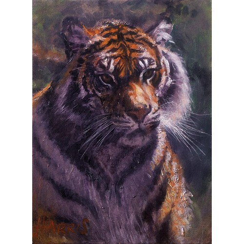 302 - ROLF HARRIS (b.1930) ARTIST SIGNED LIMITED EDITION COLOUR PRINT ON CANVAS'Tiger in the Sun', (29/195...
