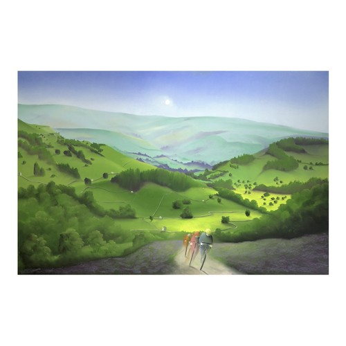 336 - MACKENZIE THORPE (b.1956)ARTIST SIGNED LIMITED EDITION COLOUR PRINT'Over the Moor and Dale', (48/195...