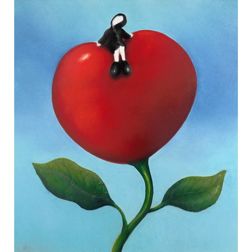 337 - MACKENZIE THORPE (b.1956) ARTIST SIGNED LIMITED EDITION COLOUR PRINT'Love and Life', (76/195), no ce...