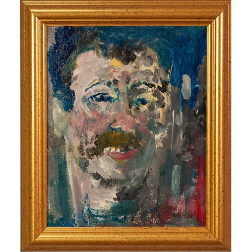 264 - †LAWRENCE JAMES ISHERWOOD (1917-1988) OIL ON BOARD 'Toothy Man' Unsigned, titled and dated '98 verso...