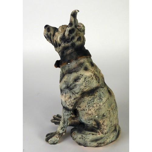 333 - APRIL SHEPHERD (MODERN) LIMITED EDITION 'COLD CAST PORCELAIN' MODEL OF A DOG 'Ever Hopeful', (66/295...