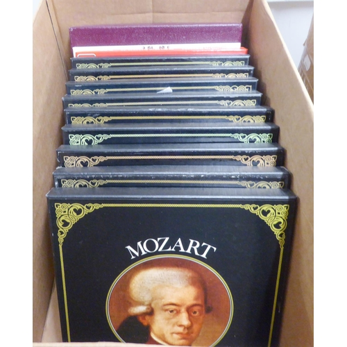 62 - SYNCHRO STEREO BOXED COLLECTION OF 33 1/3 RPM VINYL CLASSICAL RECORDS IN NINE BOXES, EACH THE WORKS ...