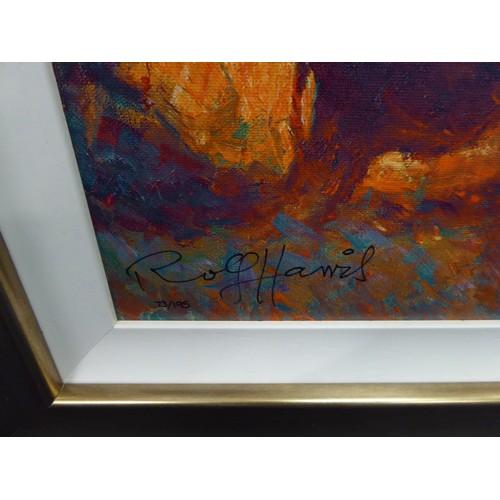 303 - ROLF HARRIS (b.1930) ARTIST SIGNED LIMITED EDITION COLOUR PRINT ON CANVAS'Backlit Gold I', (73/195),...