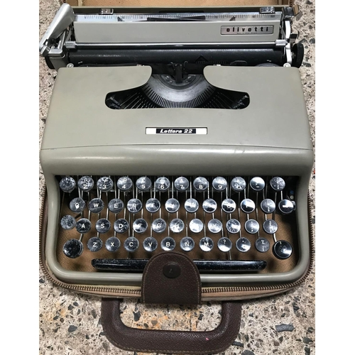 18 - PORTABLE CASED TYPEWRITER BY OLIVETTI