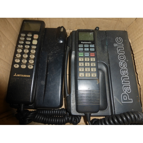 428 - Two Vintage Mobile Phone / Battery Packs including Panasonic and Mitsubishi...