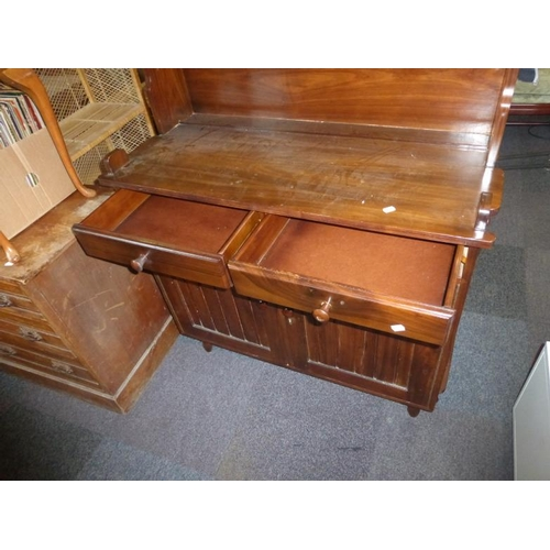 429 - Vintage wooden sideboard with drawers and cupboards...