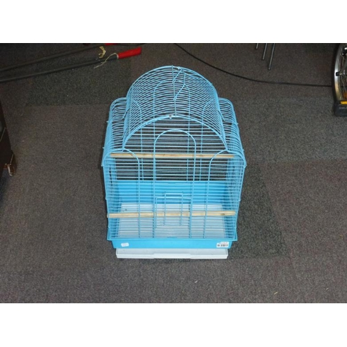 439 - Blue metal bird cage...