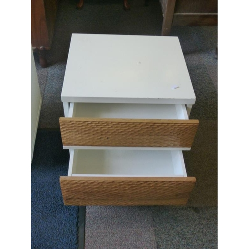 443 - Pair of retro bedside table with drawers...