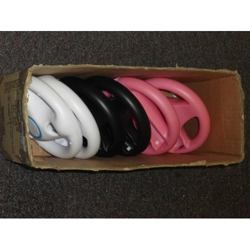 459 - Collection of Wii steering wheel accessories...
