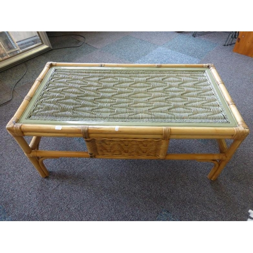 486 - Rectangular Wicker Coffee table...