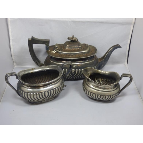 37 - Antique EPNS Tea set including Milk Jug, Sugar Bowl and Tea Pot...