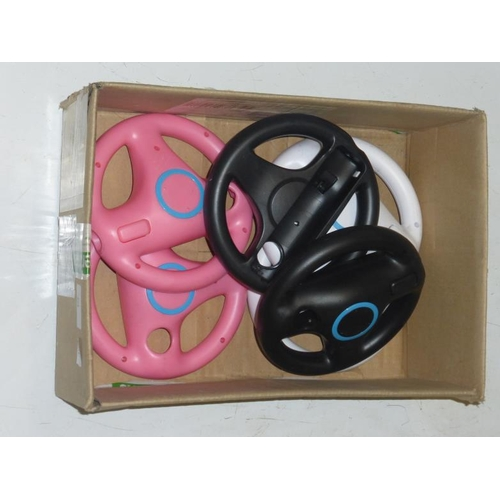 537 - Collection of Wii steering wheel accessories...