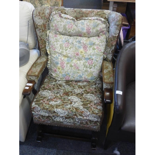 594 - Single fabric rocker chair...