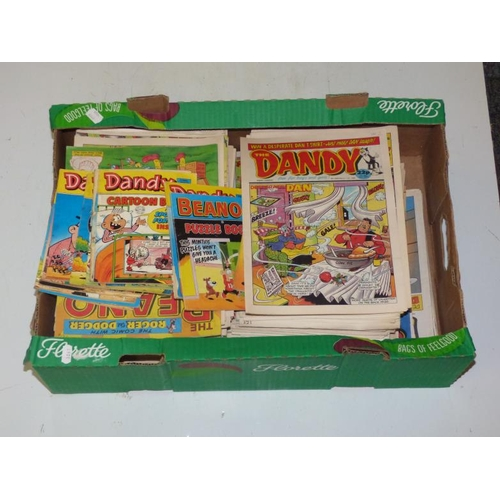 145 - Collection of over 200 vintage copies of Beano and Dandy comics...