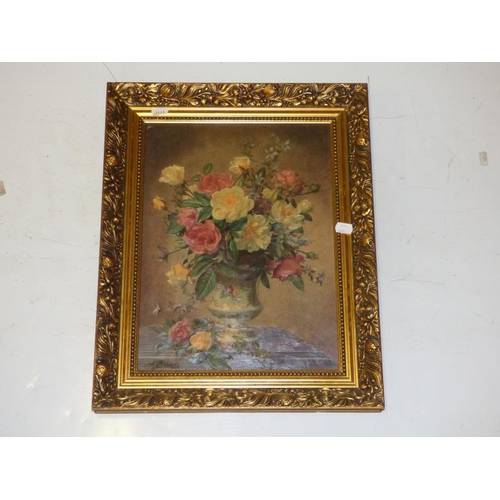 226 - Framed picture of flowers in Vase by Albert Williams...