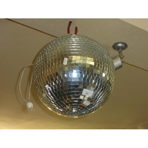 599 - Glitter effect disco ball...