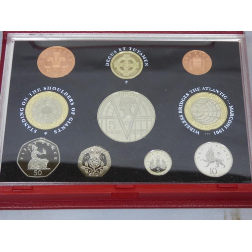 106 - Royal Mint 2001 Glimpses into the Victorian Era coin collection in leather cse...