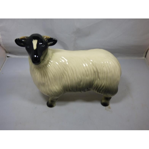 122 - Beswick style ceramic sheep...