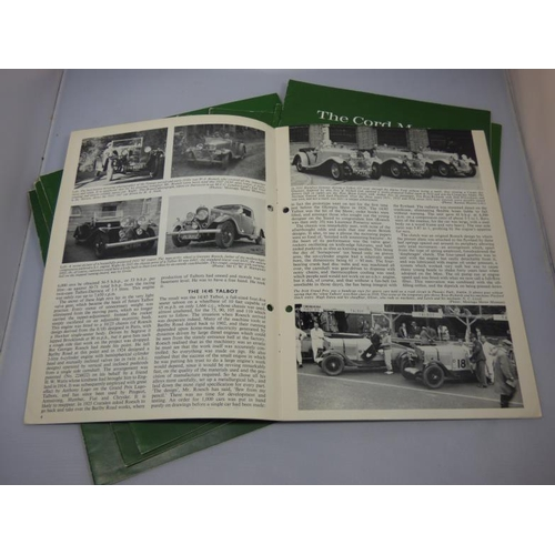 124 - Collection of vintage car profiles circa 1960's (x11)...